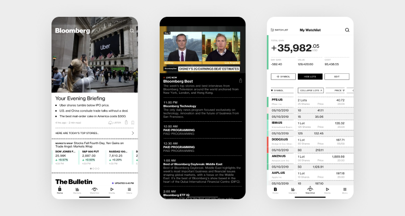best react native apps — bloomberg