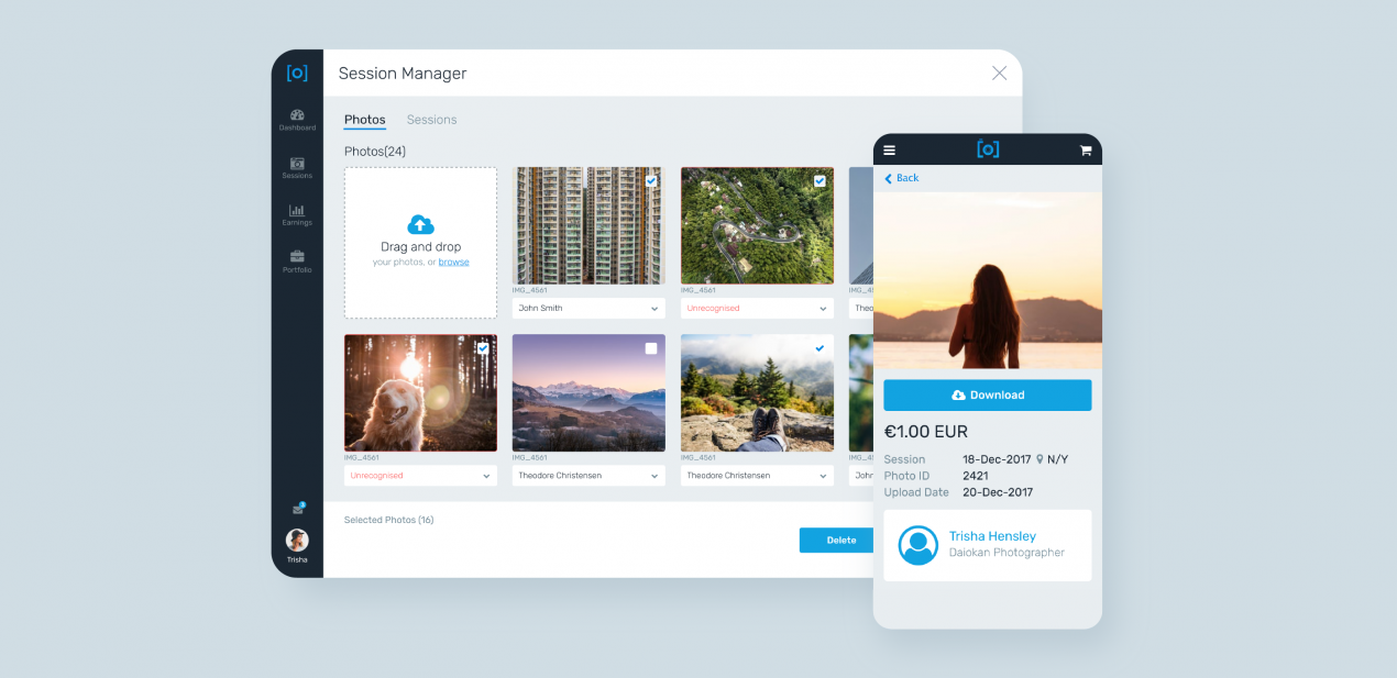 Marketplace for photographers development