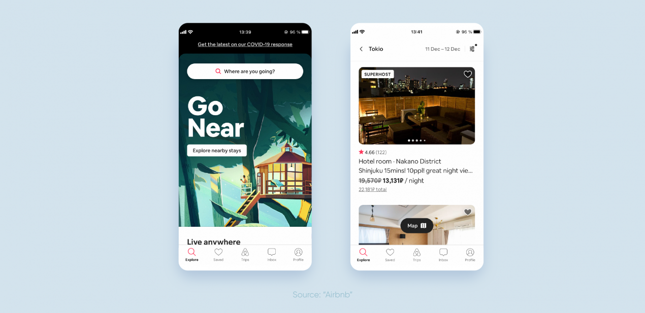 marketplace app development — airbnb