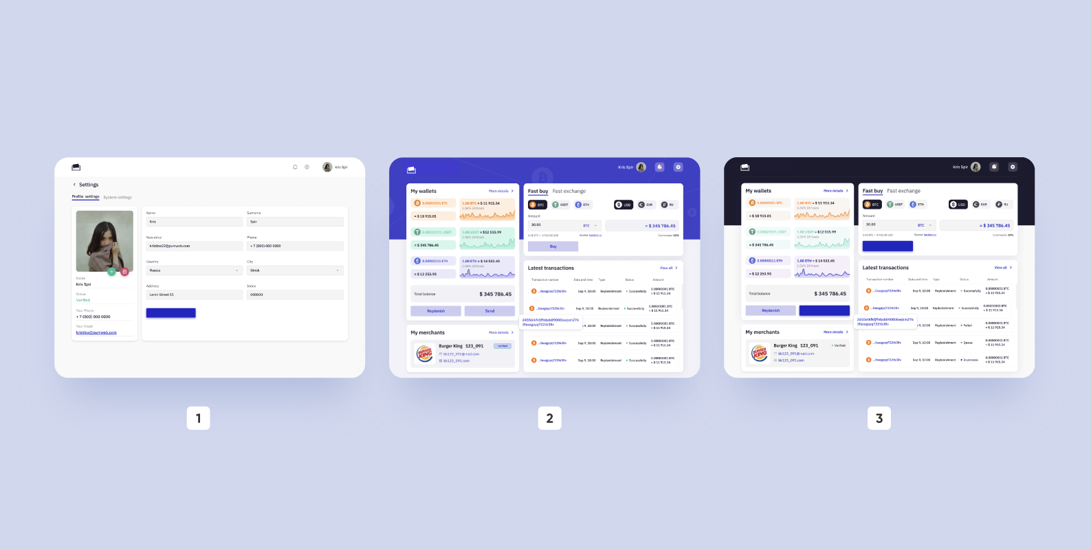 cryptocurrency wallet development: 3 design-concepts