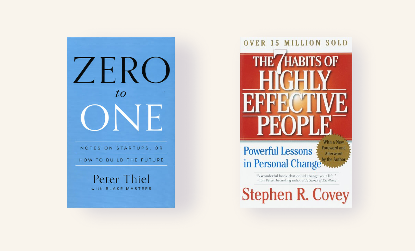 Zero to One and Highly Effective People — best project management books