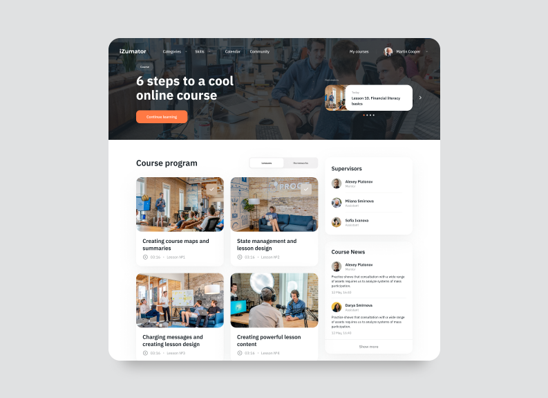 how to design online education platforms with courses