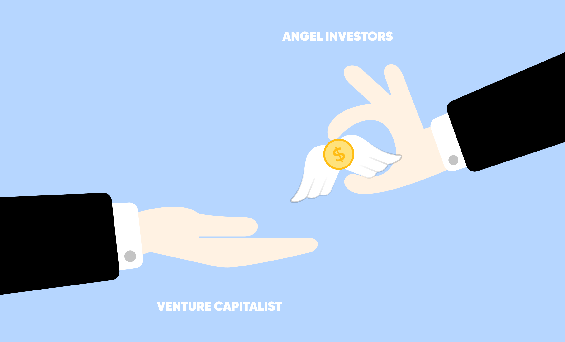 Two hands holding a coin as a metaphor of NYC angel investors
