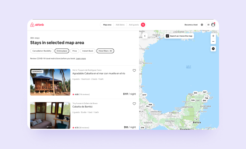 Single Page Applications — Airbnb